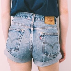 "Levi's vintage ""mom jeans"" shorts!"